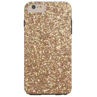 Funda Resistente iPhone 6 Plus Brillo metálico del oro color de rosa de cobre