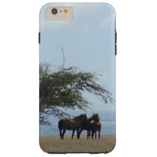 Funda Resistente iPhone 6 Plus Caballos tropicales de la playa en la playa
