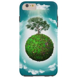 Funda Resistente iPhone 6 Plus Caja del teléfono - globo herboso