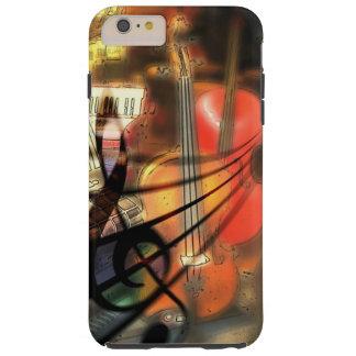 Funda Resistente iPhone 6 Plus Caja musical del teléfono celular del arte del