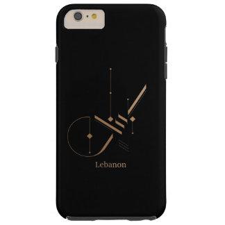 Funda Resistente iPhone 6 Plus caligrafía árabe moderna - Líbano