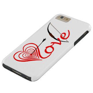 Funda Resistente iPhone 6 Plus Corazón amor blanco con flecha y arco