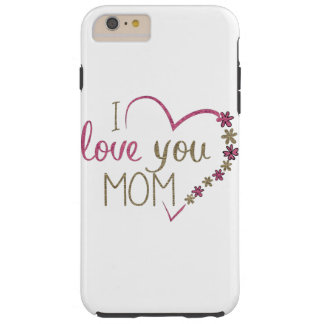 Funda Resistente iPhone 6 Plus Corazón del día de madres de la mamá del amor