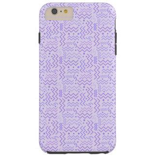 Funda Resistente iPhone 6 Plus Diseño púrpura en colores pastel enrrollado de