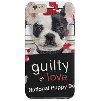 Funda Resistente iPhone 6 Plus Dogo francés del el día de San Valentín