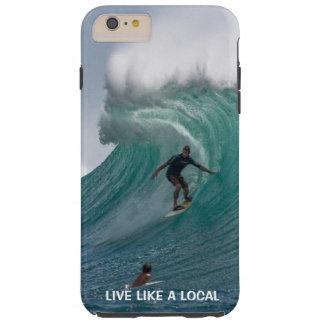 Funda Resistente iPhone 6 Plus El practicar surf divertido de la playa del océano