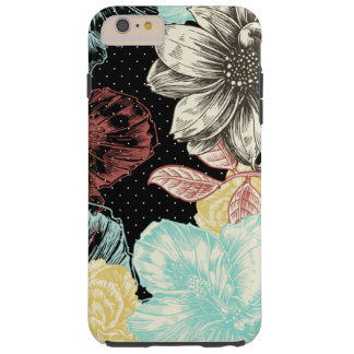 Funda Resistente iPhone 6 Plus Floral grabada intrépido