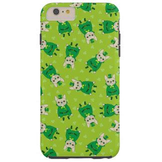 Funda Resistente iPhone 6 Plus Frenchie lindo afortunado el el día de St Patrick