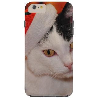 Funda Resistente iPhone 6 Plus Gato de Papá Noel - Felices Navidad - acaricie el