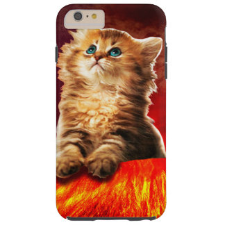 Funda Resistente iPhone 6 Plus gato del volcán, gato vulcan,