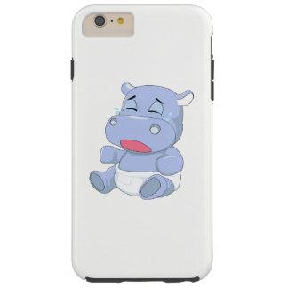 Funda Resistente iPhone 6 Plus Griterío del hipopótamo del bebé