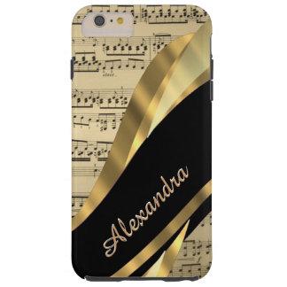 Funda Resistente iPhone 6 Plus Hoja de música elegante personalizada