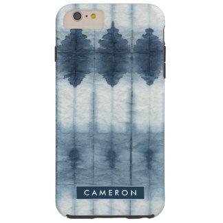 Funda Resistente iPhone 6 Plus Impresión de Shibori Indigio