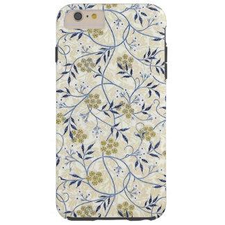 Funda Resistente iPhone 6 Plus iPhone 6/6S del jazmín azul más el caso duro