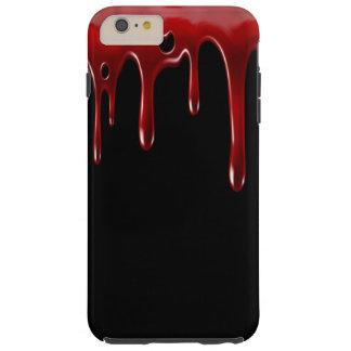Funda Resistente iPhone 6 Plus La sangre de Falln gotea negro