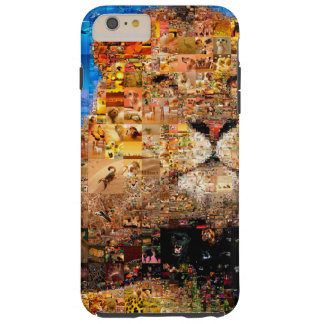 Funda Resistente iPhone 6 Plus león - collage del león - mosaico del león - león