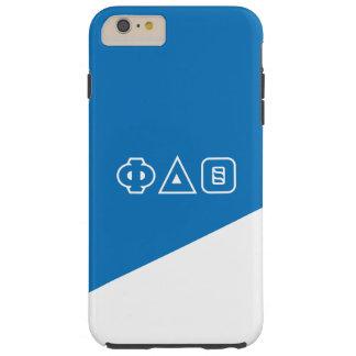 Funda Resistente iPhone 6 Plus Letras del Griego de la theta el | del delta de la