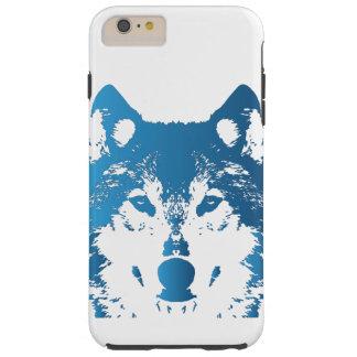 Funda Resistente iPhone 6 Plus Lobo de los azules claros del ilustracion