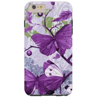 Funda Resistente iPhone 6 Plus Mariposas púrpuras en una rama