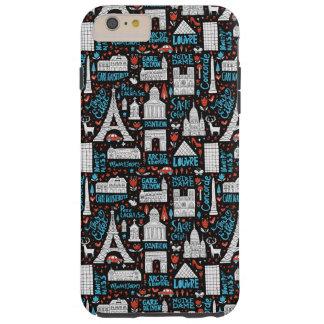 Funda Resistente iPhone 6 Plus Modelo de los símbolos de Francia el |