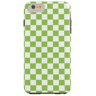 Funda Resistente iPhone 6 Plus Modelo del tablero de damas del verde amarillo