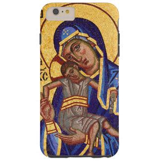 Funda Resistente iPhone 6 Plus Mosaico Madonna y icono del niño