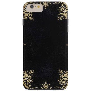 Funda Resistente iPhone 6 Plus Negro y oro de Falln afiligranados