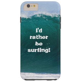Funda Resistente iPhone 6 Plus Onda grande estaría practicando surf bastante la