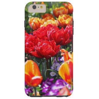 Funda Resistente iPhone 6 Plus Ondas florales del carmesí de Falln