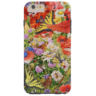 Funda Resistente iPhone 6 Plus Pájaros, iPhone 6/6S de las mariposas más el caso