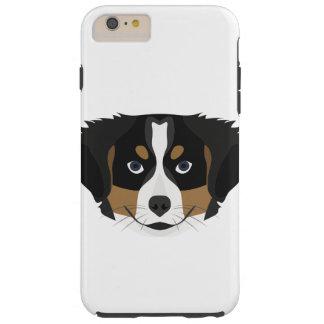 Funda Resistente iPhone 6 Plus Perro de montaña de Bernese del ilustracion