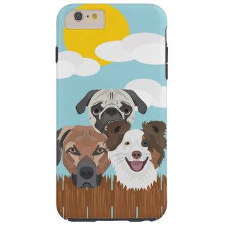 Funda Resistente iPhone 6 Plus Perros afortunados del ilustracion en una cerca de