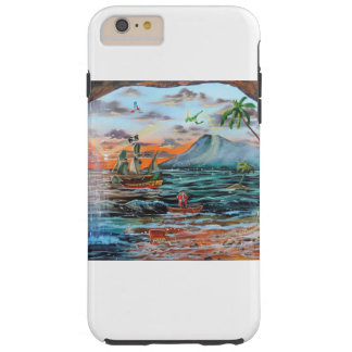 Funda Resistente iPhone 6 Plus Pintura de Bell del chapucero de la ensenada del
