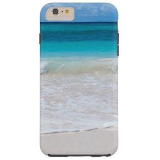Funda Resistente iPhone 6 Plus Playa y mar tropicales blancos