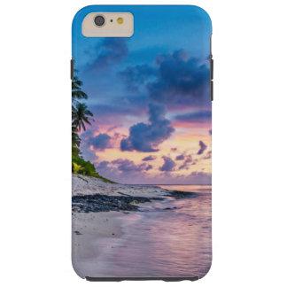 Funda Resistente iPhone 6 Plus Puesta del sol tropical de la playa