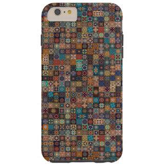 Funda Resistente iPhone 6 Plus Remiendo del vintage con los elementos florales de