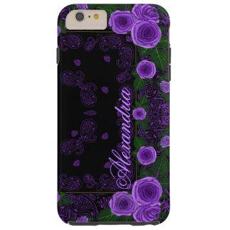 Funda Resistente iPhone 6 Plus Rosas de la frambuesa y plantilla conocida del