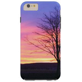 Funda Resistente iPhone 6 Plus Salida del sol de la mañana del invierno