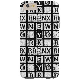 Funda Resistente iPhone 6 Plus Tipografía del Grunge de Bronx Nueva York el  
