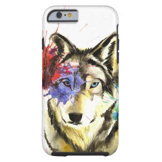 Funda Resistente iPhone 6 Salpicadura del lobo