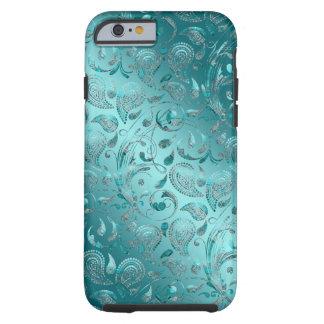 Funda Resistente iPhone 6 Turquesa brillante de Paisley