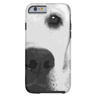 Funda Resistente iPhone 6 Un labrador retriever blanco y negro