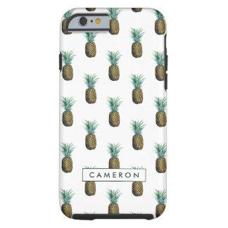 Funda Resistente Para iPhone 6 Acuarela tropical de la piña