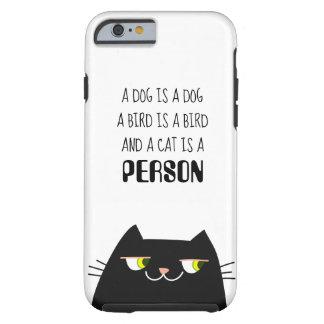 Funda Resistente Para iPhone 6 Amor lindo divertido de la persona del gato del