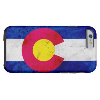 Funda Resistente Para iPhone 6 Bandera patriótica del estado de Colorado del