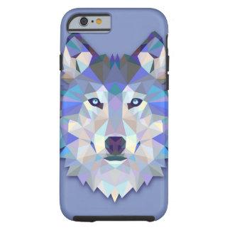 Funda Resistente Para iPhone 6 Cabeza geométrica del lobo del LOBO CRISTALINO