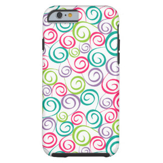 Funda Resistente Para iPhone 6 Caja del teléfono del q rizado colorido