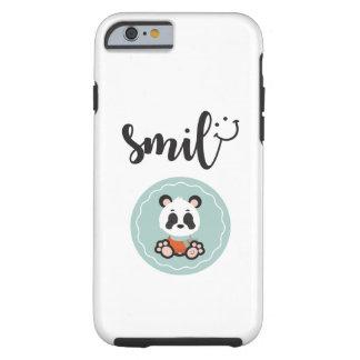 Funda Resistente Para iPhone 6 Caja dura del teléfono de la panda de la sonrisa