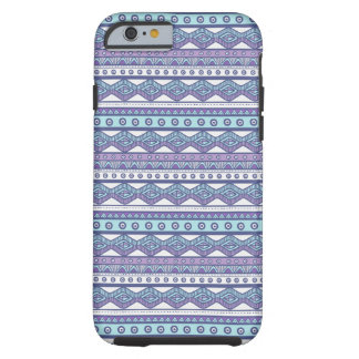 Funda Resistente Para iPhone 6 Caja dura elegante azteca azul púrpura del iPhone