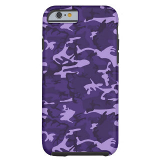 Funda Resistente Para iPhone 6 Caja púrpura del iPhone 6 del modelo del camuflaje